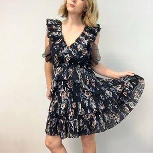 [rebecca taylor] navy floral dress